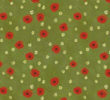 Daisy and poppy pattern by ixie