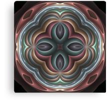 3d pastel fractal mandala Canvas Print