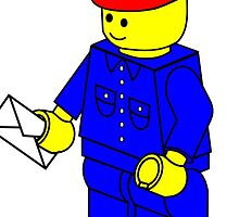 Postman Minifig, by Customize My Minifig by ChilleeW
