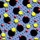 Red Yellow Aqua Black Dots Duvet by GolemAura