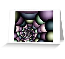 Into the web Greeting Card
