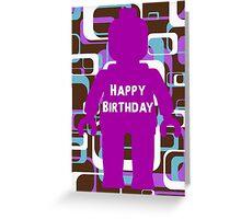 Retro Minifig Art Happy Birthday Greeting Card