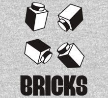 """""""BRICKS"""", by Customize My Minifig Kids Clothes"""