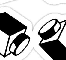 """""""BRICKS"""", by Customize My Minifig Sticker"""