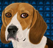 Beagle Staring Directly at You - Digital Paint by ibadishi