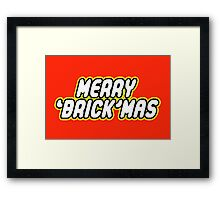 MERRY 'BRICK'MAS Framed Print