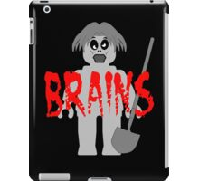 "Zombie Minifig ""BRAINS"", by Customize My Minifig iPad Case/Skin"