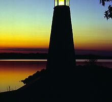 Lighthouse at Sunset by Michael Mill