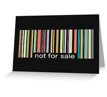 not for sale Greeting Card