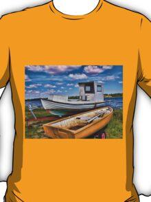 Fishing boat on the beach T-Shirt