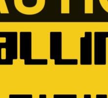 Caution Falling Bricks Sticker