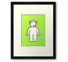 Banksy Style Astronaut Minifig  Customize My Minifig Framed Print