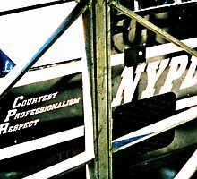NYPD through bars by Ben de Putron