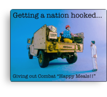 Getting a nation hooked....... Canvas Print
