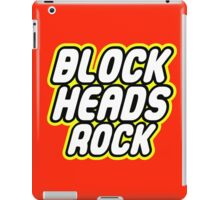 BLOCK HEADS ROCK iPad Case/Skin