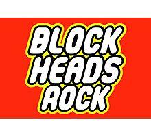 BLOCK HEADS ROCK Photographic Print