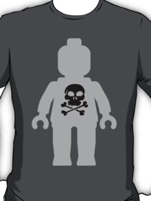 Minifig with Skull Design T-Shirt