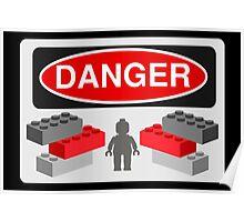 Danger Bricks & Minifig Poster