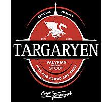 Targaryen Imperial Stout Photographic Print
