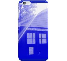 Blue and White T.A.R.D.I.S. iPhone Case/Skin