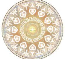 God Angel Mandala by Martin Rosenberger