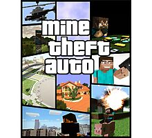 Mine Theft Auto - Grand Theft Auto x Minecraft Photographic Print