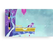 Little Princess in Chalk Canvas Print