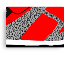 Made in China SB x Superme Red/Cement - Pop Art, Sneaker Art, Minimal Canvas Print