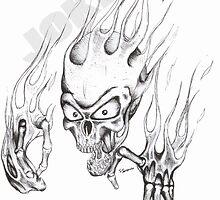flame skull by Joker