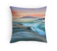 Folding the Sea Throw Pillow