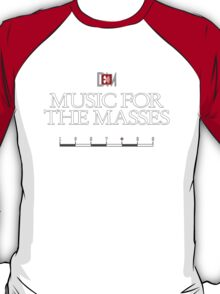 Depeche Mode : Music For The Masses Logo 3 White T-Shirt