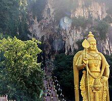 The Caves Climb II - Batu Caves, Malaysia. by Tiffany Lenoir