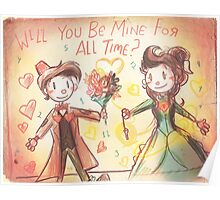 Doctor Who Valentine - Be Mine For All Time Poster