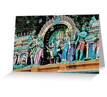 Bubbles & Colors - Batu Caves, Malaysia. Greeting Card