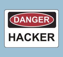 Danger Hacker - Warning Sign Kids Clothes