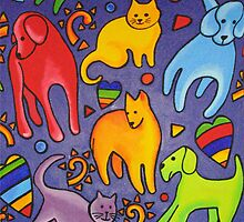 I love cats and dogs by Anni Morris