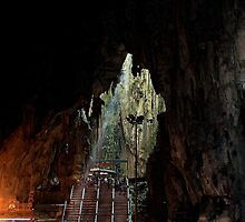 Insinde the Cave - Batu Caves, Malaysia. by Tiffany Lenoir