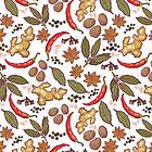 Spices pattern by smalldrawing