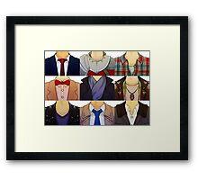 Fandom Collars Framed Print