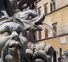 Piazza Navona Fountain by Debbie Vine