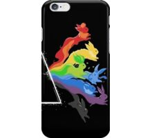 eeve's evolutions as pink floyd cd cover iPhone Case/Skin