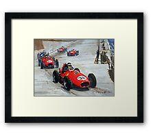 1958 Monaco GP #38 Ferrari D246 Hawthorn  Framed Print