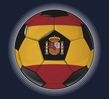 Spain - Spanish Flag - Football or Soccer Kids Clothes