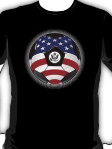 USA - American Flag - Football or Soccer T-Shirt