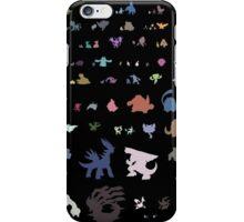 all 4th gen pokemon minimalism iPhone Case/Skin