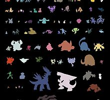 all 4th gen pokemon minimalism by pokemonequisde