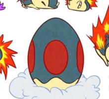 cyndaquil kawaii design  Sticker