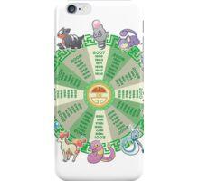 zodiac calendar pokemon iPhone Case/Skin