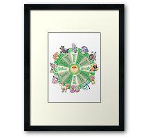 zodiac calendar pokemon Framed Print