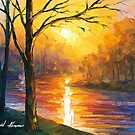 Yellow River — Buy Now Link - www.etsy.com/listing/212060962 by Leonid  Afremov